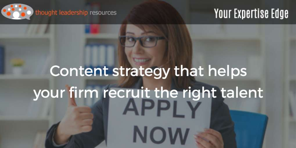 #96 Content strategy that helps your firm recruit the right talent