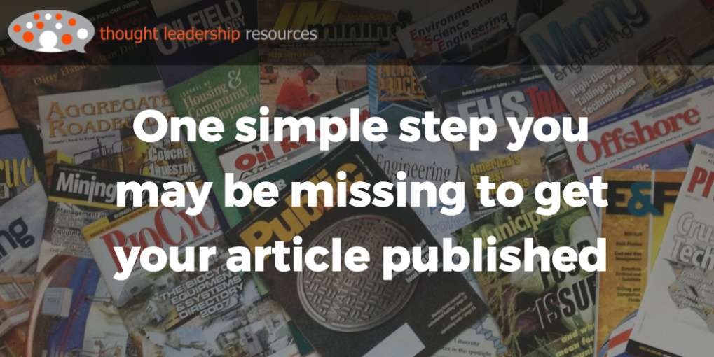 # 74 One simple step you may be missing to get your article published