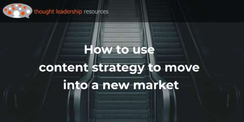 #115 How to use content strategy to move into a new market